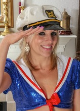 Older babe Sierra Smith plays the sexy sea captain. in Karupsow | Elite Mature
