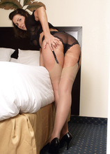 Helena Price In Sheer Lingerie And Pantyhose - AllOver30.com