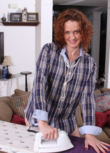 Mature Roxanne Ironing The Laundry - AllOver30.com