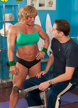 Kat Wiley works that muscle - Kat Wiley and John Strange (87 Photos) - 40 Something
