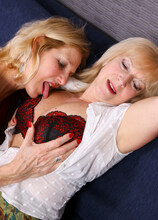 Two mature girlfriends discover their own lesbian sexuality