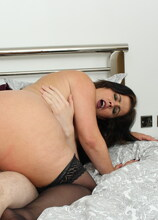 Naughty MILF sucking and fucking her younger lover