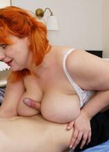 Curvy big breasted mom fucking her toyboy