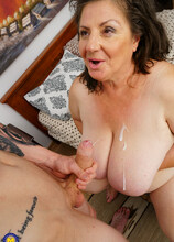 This big breasted mature mama loves to fool around with her toyboy