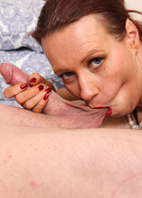 Naughty MILF Annabelle More loves fucking and sucking her toyboy