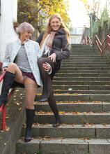 These naughty mature ladies go all the at at home