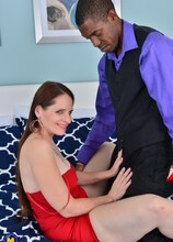 This naughty American Minx has an interracial date