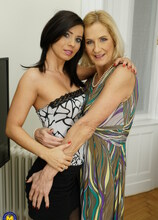 Two naughty lesbian housewives go all the way