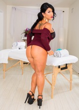 Busty and curvy mature babe Raven Hart lets us explore her older pussy.