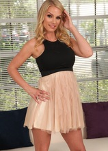 Blonde MILF Goddess Rachael Cavalli spreads her hairy pussy. in Karupsow | Elite Mature