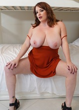 Mature redhead Maggie Green unleashes her big natural tits. in Karupsow | Elite Mature
