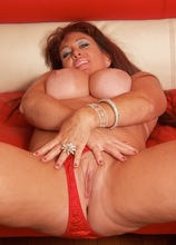 Busty cougar Anita Cannibal gets fucked doggystyle.