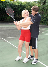 Anal on the tennis court