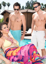 Andrea Grey's DP day at the pool - Andrea Grey, Codey Steele, and Donnie Rock (64 Photos) - 40 Something