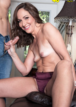 Natalie Moon's first time...and it's anal! - Natalie Moon and Donnie Rock (56 Photos) - 40 Something
