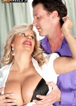 Big, fake tits, a pierced pussy...and she's a mom! - Miss Deb and Tony D'Sergio (49 Photos) - 50 Plus MILFs