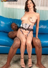 A Black Cock And A Cream Pie For The Big 5-0! - Lucy Holland and Lucas Stone (54 Photos) - 50 Plus MILFs
